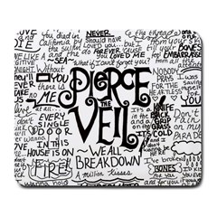 Pierce The Veil Music Band Group Fabric Art Cloth Poster Large Mousepads by Samandel