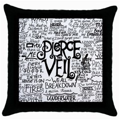 Pierce The Veil Music Band Group Fabric Art Cloth Poster Throw Pillow Case (black) by Samandel