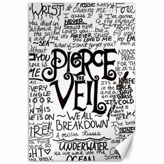 Pierce The Veil Music Band Group Fabric Art Cloth Poster Canvas 24  X 36