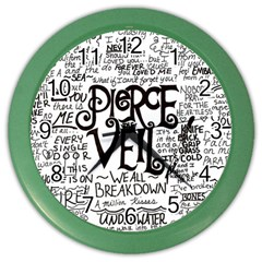 Pierce The Veil Music Band Group Fabric Art Cloth Poster Color Wall Clocks by Samandel