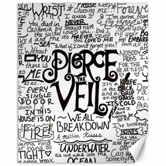 Pierce The Veil Music Band Group Fabric Art Cloth Poster Canvas 11  X 14