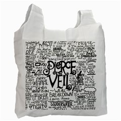 Pierce The Veil Music Band Group Fabric Art Cloth Poster Recycle Bag (two Side)  by Samandel