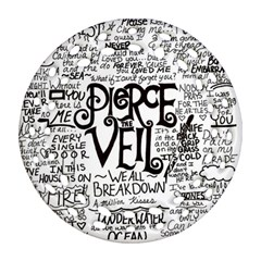 Pierce The Veil Music Band Group Fabric Art Cloth Poster Round Filigree Ornament (two Sides) by Samandel