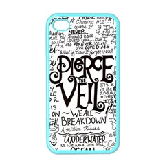 Pierce The Veil Music Band Group Fabric Art Cloth Poster Apple Iphone 4 Case (color) by Samandel