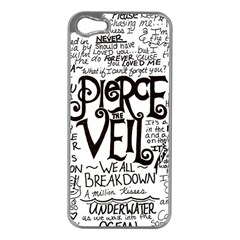Pierce The Veil Music Band Group Fabric Art Cloth Poster Apple Iphone 5 Case (silver) by Samandel