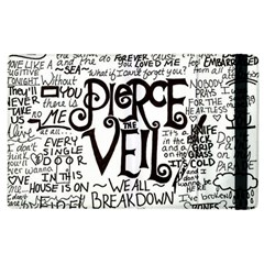 Pierce The Veil Music Band Group Fabric Art Cloth Poster Apple Ipad 2 Flip Case by Samandel