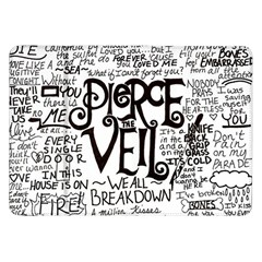 Pierce The Veil Music Band Group Fabric Art Cloth Poster Samsung Galaxy Tab 8 9  P7300 Flip Case by Samandel
