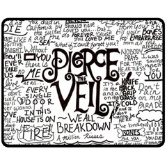 Pierce The Veil Music Band Group Fabric Art Cloth Poster Double Sided Fleece Blanket (medium)  by Samandel