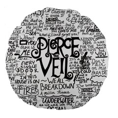 Pierce The Veil Music Band Group Fabric Art Cloth Poster Large 18  Premium Flano Round Cushions by Samandel