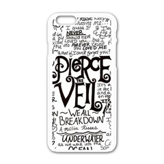 Pierce The Veil Music Band Group Fabric Art Cloth Poster Apple Iphone 6/6s White Enamel Case by Samandel