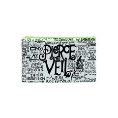 Pierce The Veil Music Band Group Fabric Art Cloth Poster Cosmetic Bag (xs) by Samandel