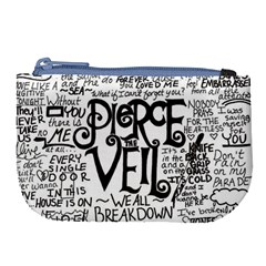 Pierce The Veil Music Band Group Fabric Art Cloth Poster Large Coin Purse by Samandel