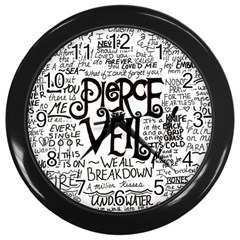 Pierce The Veil Music Band Group Fabric Art Cloth Poster Wall Clocks (black) by Samandel