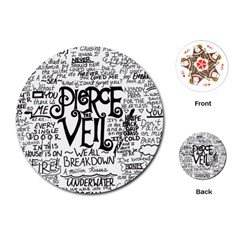 Pierce The Veil Music Band Group Fabric Art Cloth Poster Playing Cards (round)  by Samandel