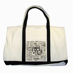 Pierce The Veil Music Band Group Fabric Art Cloth Poster Two Tone Tote Bag by Samandel