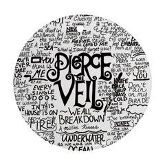 Pierce The Veil Music Band Group Fabric Art Cloth Poster Round Ornament (two Sides) by Samandel