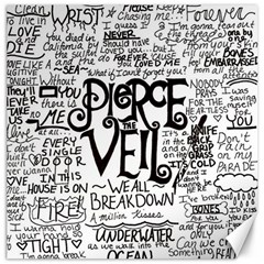 Pierce The Veil Music Band Group Fabric Art Cloth Poster Canvas 16  X 16   by Samandel