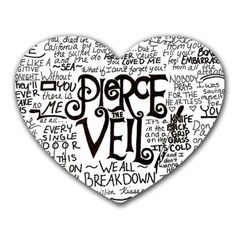 Pierce The Veil Music Band Group Fabric Art Cloth Poster Heart Mousepads by Samandel