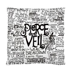 Pierce The Veil Music Band Group Fabric Art Cloth Poster Standard Cushion Case (one Side) by Samandel