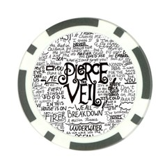 Pierce The Veil Music Band Group Fabric Art Cloth Poster Poker Chip Card Guard (10 Pack) by Samandel