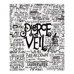 Pierce The Veil Music Band Group Fabric Art Cloth Poster Shower Curtain 60  X 72  (medium)  by Samandel