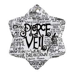 Pierce The Veil Music Band Group Fabric Art Cloth Poster Snowflake Ornament (two Sides) by Samandel