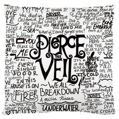 Pierce The Veil Music Band Group Fabric Art Cloth Poster Large Cushion Case (one Side) by Samandel