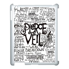 Pierce The Veil Music Band Group Fabric Art Cloth Poster Apple Ipad 3/4 Case (white)