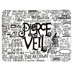 Pierce The Veil Music Band Group Fabric Art Cloth Poster Samsung Galaxy Tab 7  P1000 Flip Case by Samandel