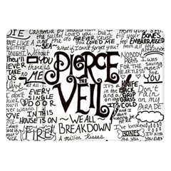 Pierce The Veil Music Band Group Fabric Art Cloth Poster Samsung Galaxy Tab 10 1  P7500 Flip Case