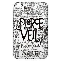 Pierce The Veil Music Band Group Fabric Art Cloth Poster Samsung Galaxy Tab 3 (8 ) T3100 Hardshell Case  by Samandel