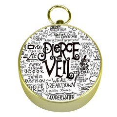 Pierce The Veil Music Band Group Fabric Art Cloth Poster Gold Compasses by Samandel