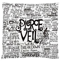 Pierce The Veil Music Band Group Fabric Art Cloth Poster Large Flano Cushion Case (one Side) by Samandel