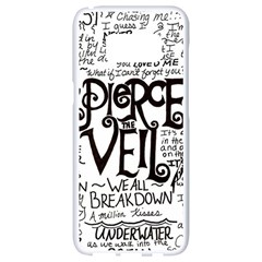 Pierce The Veil Music Band Group Fabric Art Cloth Poster Samsung Galaxy S8 White Seamless Case