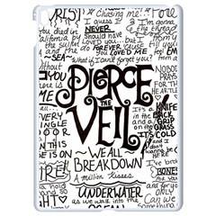 Pierce The Veil Music Band Group Fabric Art Cloth Poster Apple Ipad Pro 9 7   White Seamless Case by Samandel