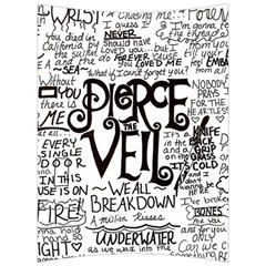 Pierce The Veil Music Band Group Fabric Art Cloth Poster Back Support Cushion by Samandel