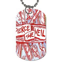 Pierce The Veil  Misadventures Album Cover Dog Tag (two Sides) by Samandel