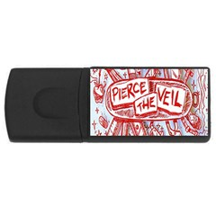 Pierce The Veil  Misadventures Album Cover Rectangular Usb Flash Drive