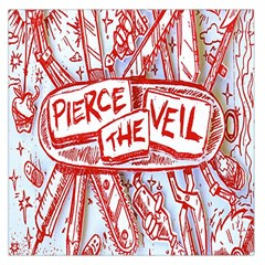 Pierce The Veil  Misadventures Album Cover Large Satin Scarf (square) by Samandel