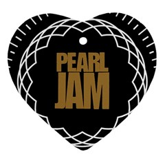 Pearl Jam Logo Heart Ornament (two Sides) by Samandel