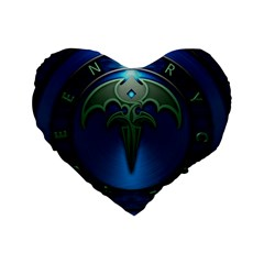 Queensryche Heavy Metal Hard Rock Bands Standard 16  Premium Flano Heart Shape Cushions