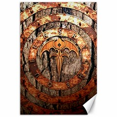 Queensryche Heavy Metal Hard Rock Bands Logo On Wood Canvas 12  X 18
