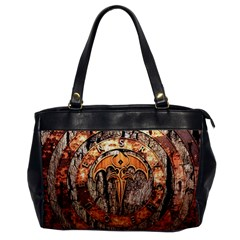 Queensryche Heavy Metal Hard Rock Bands Logo On Wood Office Handbags by Samandel