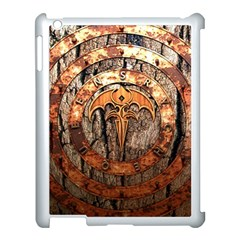 Queensryche Heavy Metal Hard Rock Bands Logo On Wood Apple Ipad 3/4 Case (white) by Samandel