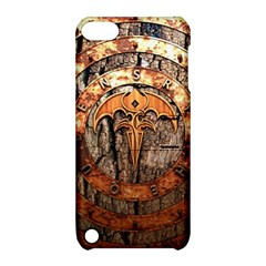 Queensryche Heavy Metal Hard Rock Bands Logo On Wood Apple Ipod Touch 5 Hardshell Case With Stand