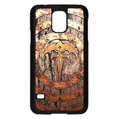 Queensryche Heavy Metal Hard Rock Bands Logo On Wood Samsung Galaxy S5 Case (black) by Samandel