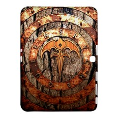 Queensryche Heavy Metal Hard Rock Bands Logo On Wood Samsung Galaxy Tab 4 (10 1 ) Hardshell Case  by Samandel