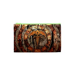 Queensryche Heavy Metal Hard Rock Bands Logo On Wood Cosmetic Bag (xs) by Samandel