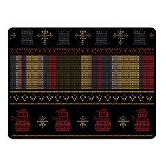 Tardis Doctor Who Ugly Holiday Fleece Blanket (small) by Samandel