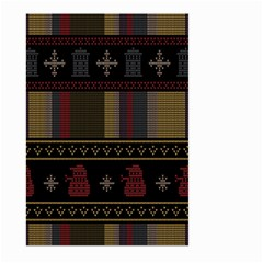 Tardis Doctor Who Ugly Holiday Large Garden Flag (two Sides)